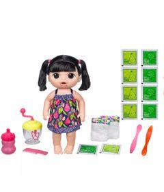 Kit-Boneca-Baby-Alive-e-Acessorios---Papinha-Divertida-e-Refil-de-Comida---Asiatica---E0633---Hasbro