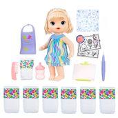 Kit-Boneca-Baby-Alive-e-Acessorios---Pequena-Artista-e-Refil-com-6-Fraldas---Loira---C0960---Hasbro