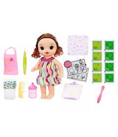 Kit-Boneca-Baby-Alive-e-Acessorios---Pequena-Artista-e-Refil-de-Comida---Morena---C0961---Hasbro