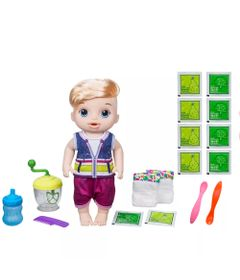 Kit-Boneco-Baby-Alive-e-Acessorios---Papinha-Divertida-e-Refil-de-Comida---Loiro---E0635---Hasbro