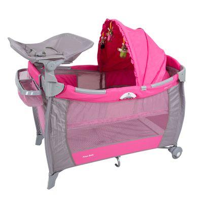 Berco-Portatil-de-Luxo-com-Trocador---Solis---Rosa---Prime-Baby