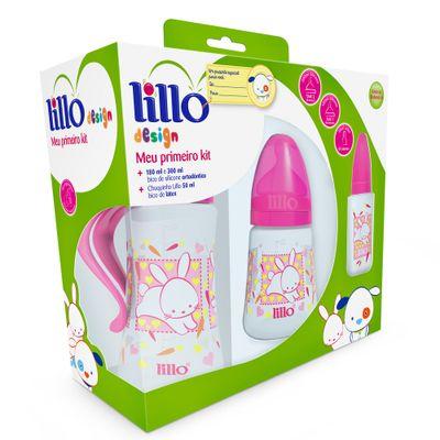 Conjunto de Mamadeiras - Meu Primeiro Kit - 3 Peças - Design - Rosa - Lillo