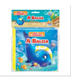 Livro-de-Banho-com-Figura---Vamos-Tomar-Banho---A-Baleia---TodoLivro