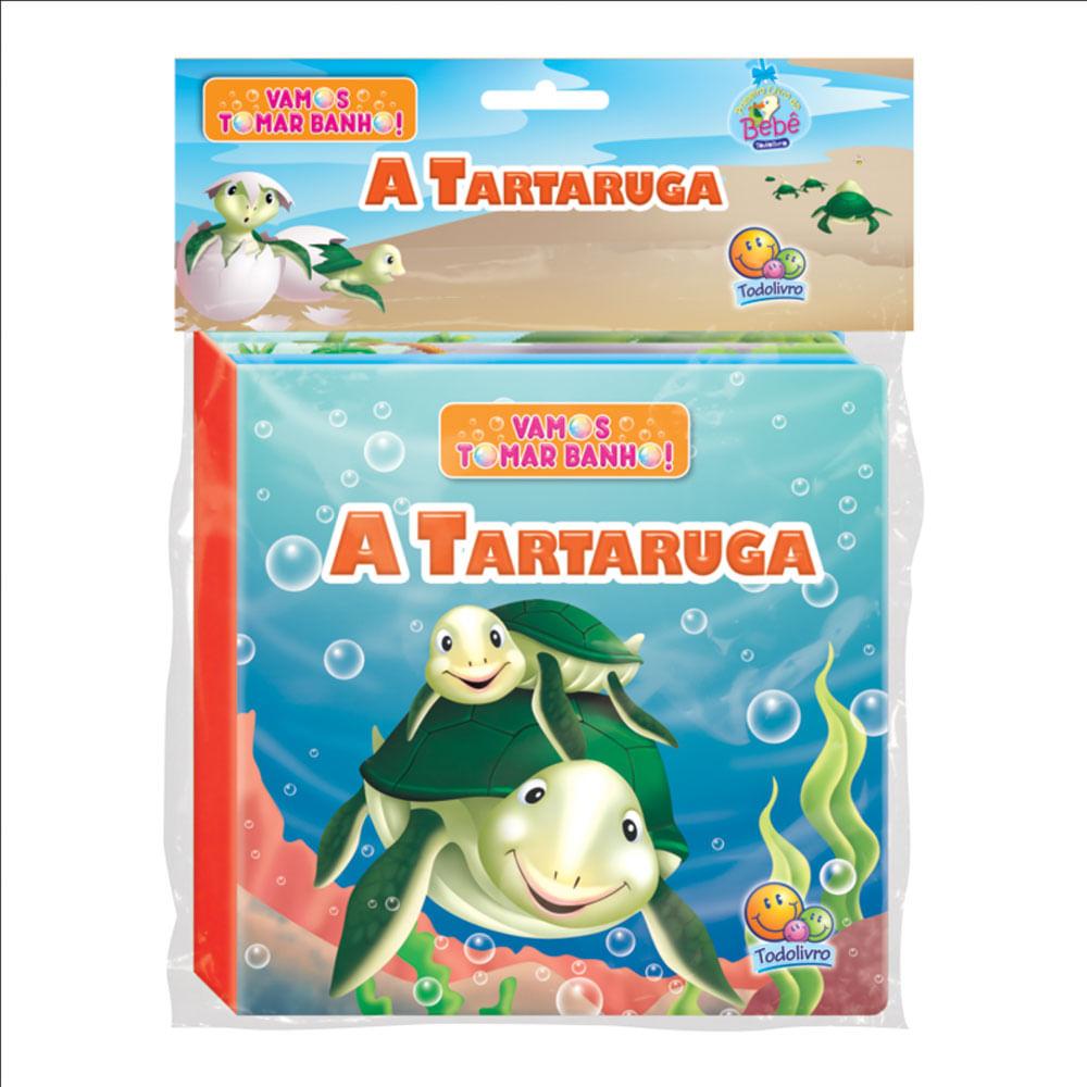Livro de Banho com Figura - Vamos Tomar Banho - A Tartaruguinha - TodoLivro
