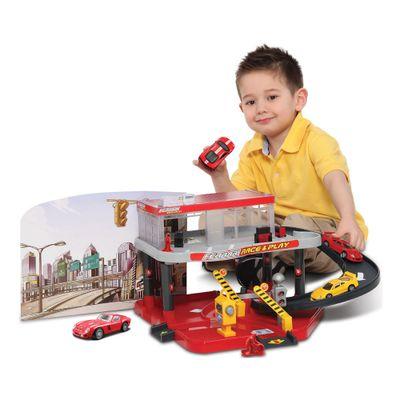 Playset-e-Pista-de-Percurso---Ferrari-Race---Play---Auto-Service---Maisto