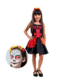 Fantasia-Infantil-e-Maquiagem---Caveira-Mexicana---Sulamericana---P