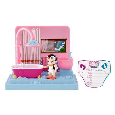 Mini-Playset-e-Boneca---Baby-Secrets---Hora-do-Banho---Bebe-Pinguim---Candide