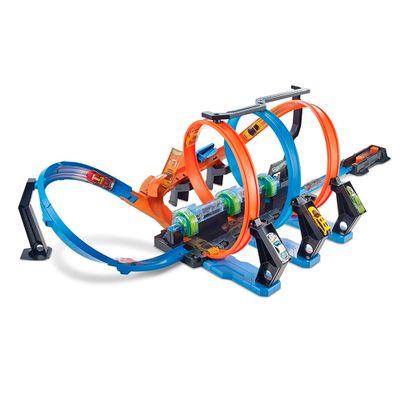 Pista-de-Percurso-e-Veiculo---Hot-Wheels---Corkscrew-Crash---Mattel