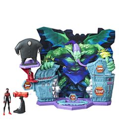 Playset-47-Cm-e-Figura-Articulada---Disney---Spider-Man---Into-The-SpiderVerse---Hasbro