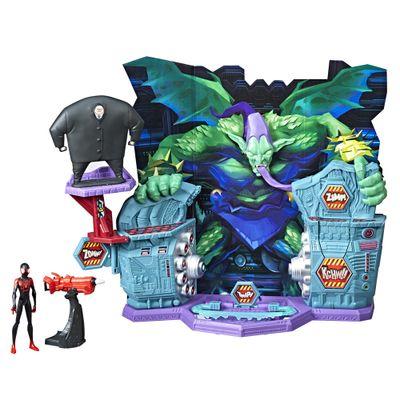 Playset-47-Cm-e-Figura-Articulada---Disney---Spider-Man---Into-The-SpiderVerse---Hasbro