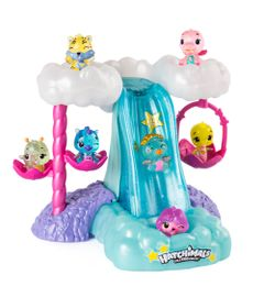 Playset-e-Mini-Figura-Surpresa---Cascata-Iluminada---Hatchimals-Colleggtibles--Sunny
