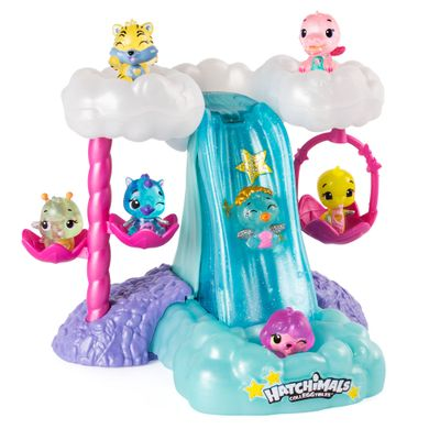 Playset-e-Mini-Figura-Surpresa---Cascata-Iluminada---Hatchimals-Colleggtibles--Sunny