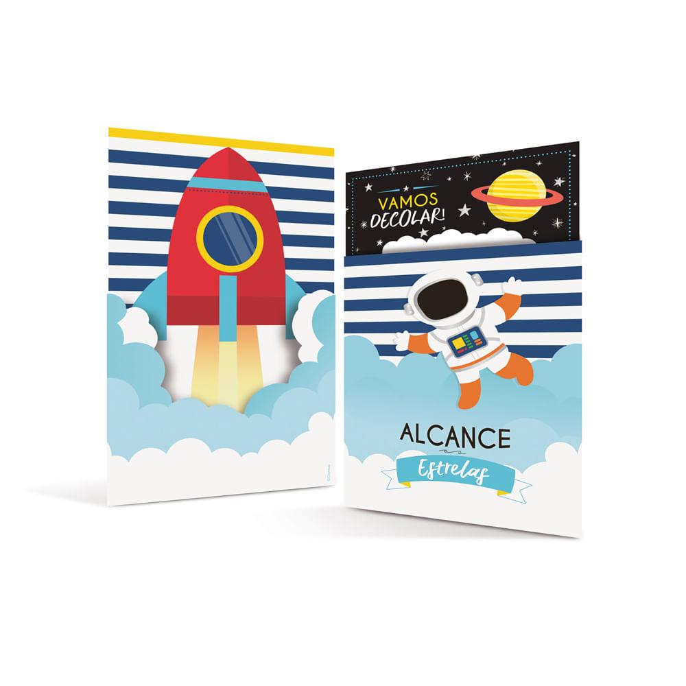 Acessórios para Festa - Convites de Aniversário - Astronauta - 8 Un - Cromus