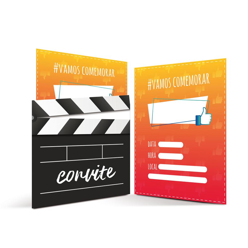 Acessórios para Festa - Convites de Aniversário - Influencer - 8 Un - Cromus