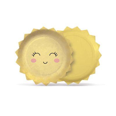 Acessorios-para-Festa---Prato-Descartavel-Redondo---Pedacinho-do-Ceu---Solzinho---8-Un---Cromus