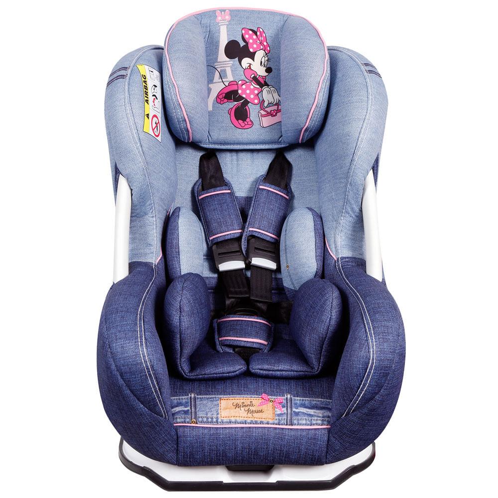 Cadeira Para Auto - De 0 a 25 Kg - Disney - Eris - Minnie - Denim - Team Tex