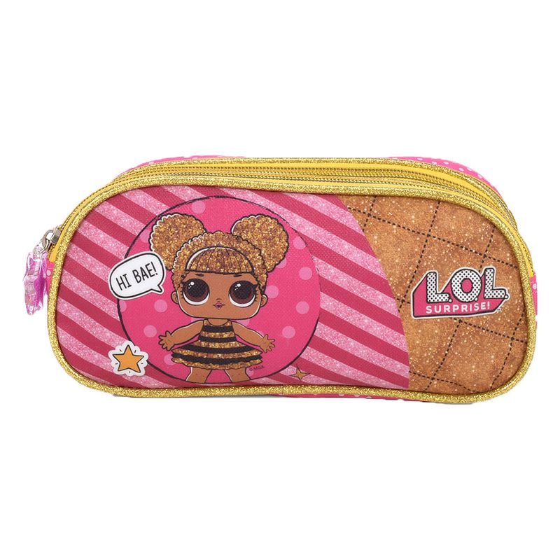 0b5cb7afa Estojo Escolar - LOL Surprise - Rosa e Amarelo - Luxcel - PBKIDS