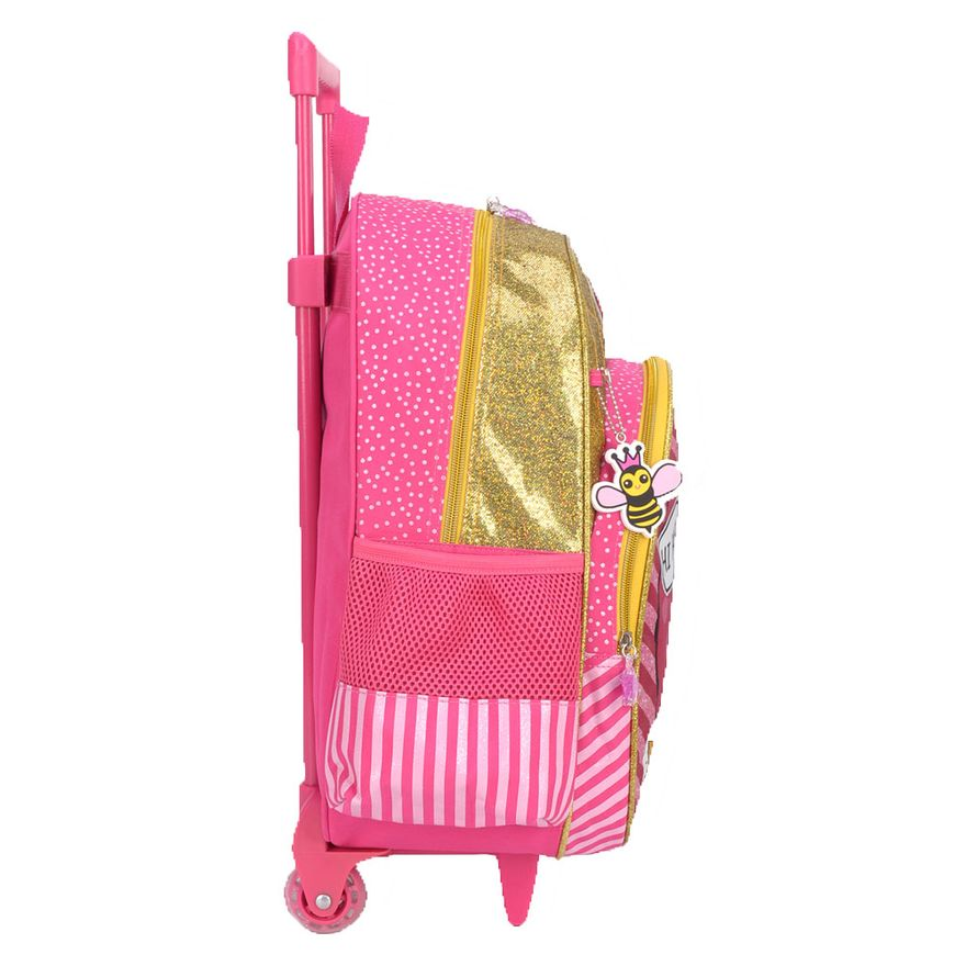Mochila-com-Rodinhas-40-Cm---LOL-Surprise---Rosa-e-Amarelo---Luxcel