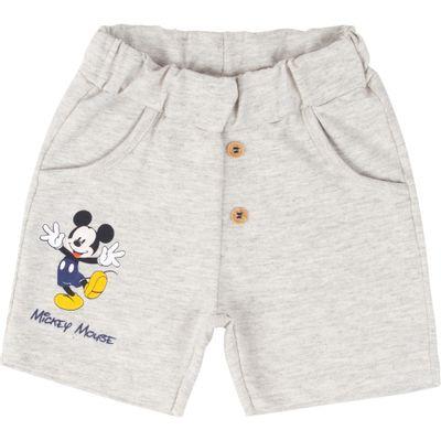 Bermuda-em-Algodao---Mescla-Banana---Mickey-Mouse---Disney---P