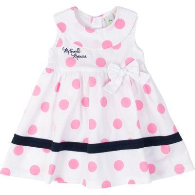 Vestido-Manga-Curta---Algodao---Branco-e-Azul---Minnie-Mouse---Disney---P