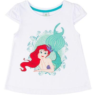 Blusa-Manga-Curta---Algodao---Branco---Ariel---Disney---1