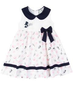 Vestido-Manga-Curta---Algodao---Branco-e-Azul---Ariel---Disney---1