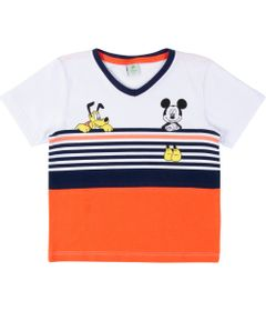Camiseta-Manga-Curta---Algodao---Branco---Mickey-Mouse---Disney---1