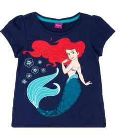 Blusa-Manga-Curta---Algodao---Azul---Ariel---Disney---2