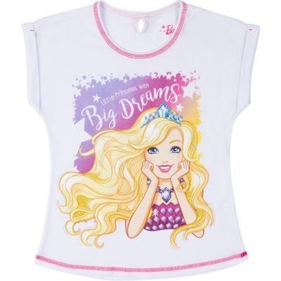 Blusa-Manga-Curta---Algodao---Branca-Estampada---Barbie---8