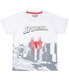 Camiseta-Manga-Curta---Algodao---Branco-e-Vermelho---Marvel---Logo---Spider-Man---Disney---8