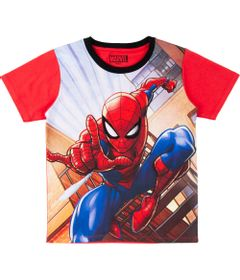 Camiseta-Manga-Curta---Algodao---Vermelho---Marvel---Spider-Man---Disney---4