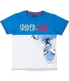 Camiseta-Manga-Curta---Algodao---Azul-e-Branco---Marvel---Spider-Man---Disney---4