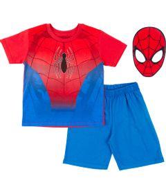 Pijama-em-Algodao---Azul-e-Vermelho---Marvel---Spider-Man---Disney---8