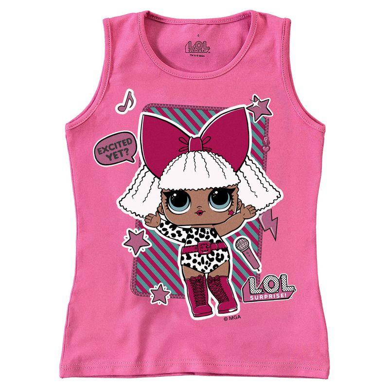 Regata Infantil - Cotton - Rosa Estampada - LOL Surprise! - Malwee - Ri  Happy Brinquedos 7a0a55da86c38