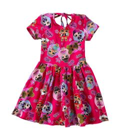Vestido-Infantil---Meia-Malha---Vermelho-Estampado---LOL-Surprise----Malwee---4