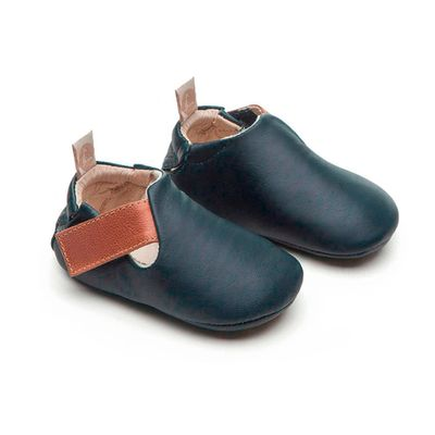 Sapato para Bebe Linha Walkers Little Grao Navy Whisky Tip Toey Joey 25