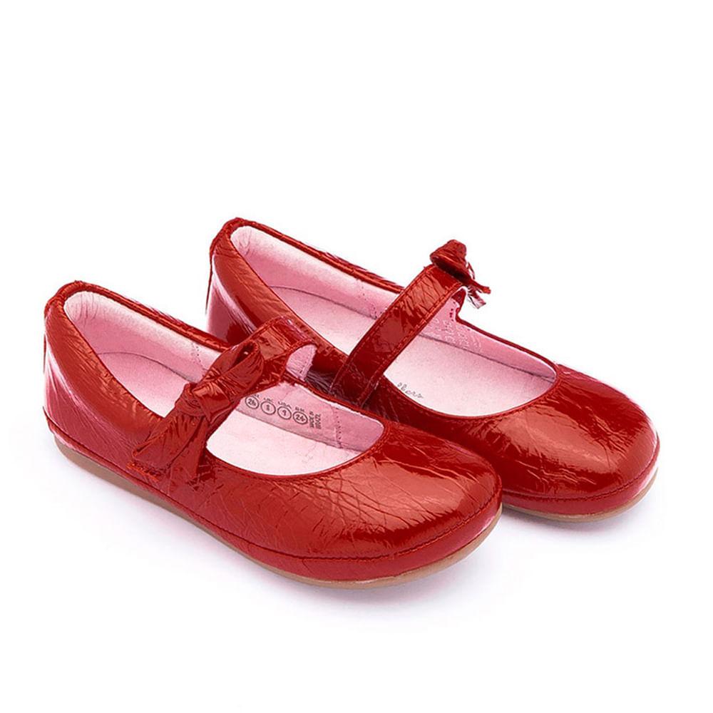 Sapatilha para Bebês - Linha Walkers - Little Doroth - Patent Red - Tip Toey Joey
