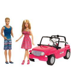 Boneca-Barbie-e-Boneco-Ken-com-Automovel---Veiculo-de-Praia---Mattel