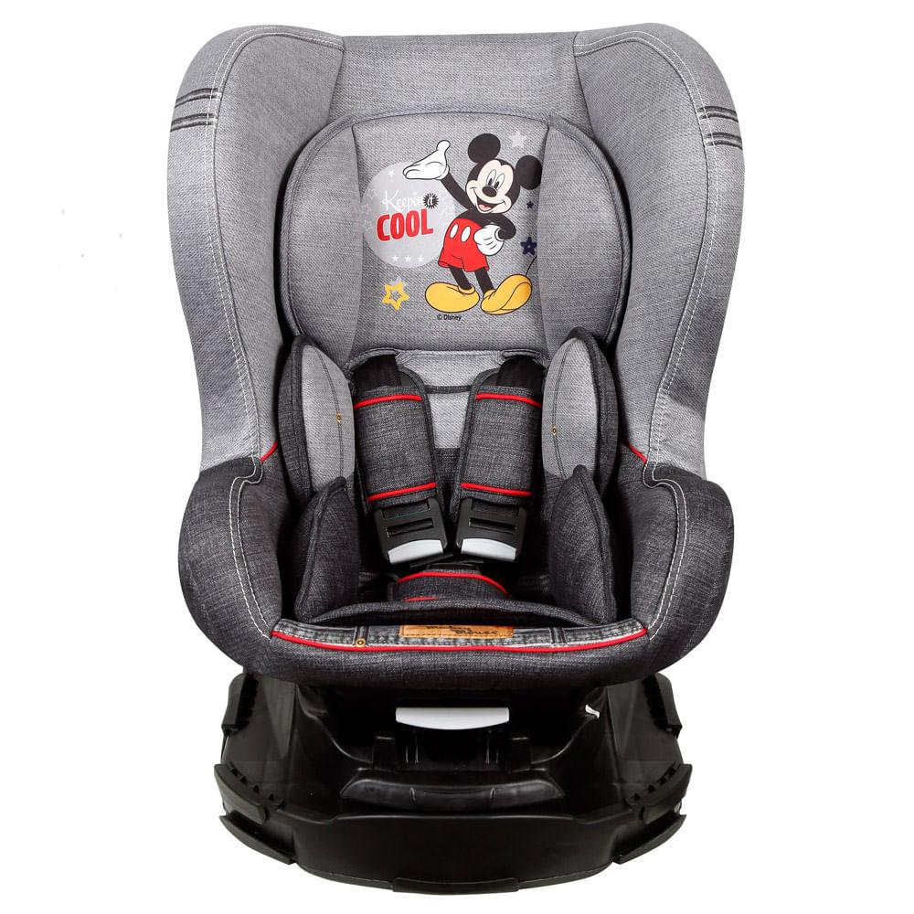 Cadeira Para Auto - De 0 a 18 Kg - Disney - Revo - Mickey Mouse - Denin - Team Tex