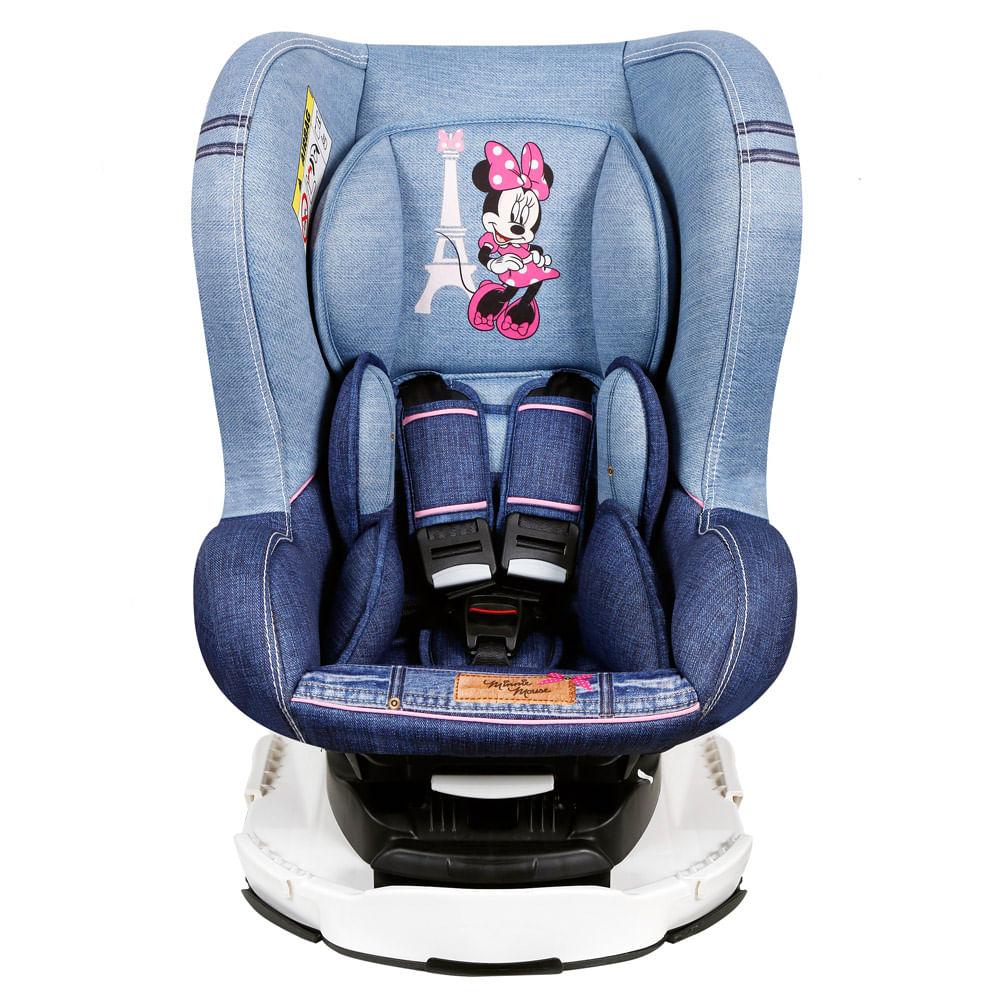 Cadeira Para Auto - De 0 a 18 Kg - Disney - Revo - Minnie - Denin - Team Tex