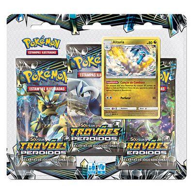 Jogo-Pokemon---Blister-Triplo---Sol-e-Lua---Trovoes-Perdidos---Altaria---Copag