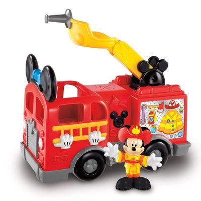 Mini-Veiculo-e-Figura---Disney---Mickey-Mouse---Caminhao-de-Bombeiros---Fisher-Price