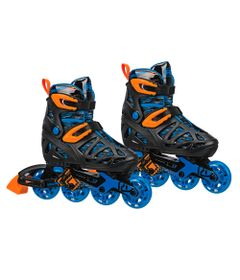 Patins-Inline---Tracer-Boy---RollerDerby---Azul-e-Preto---Fila