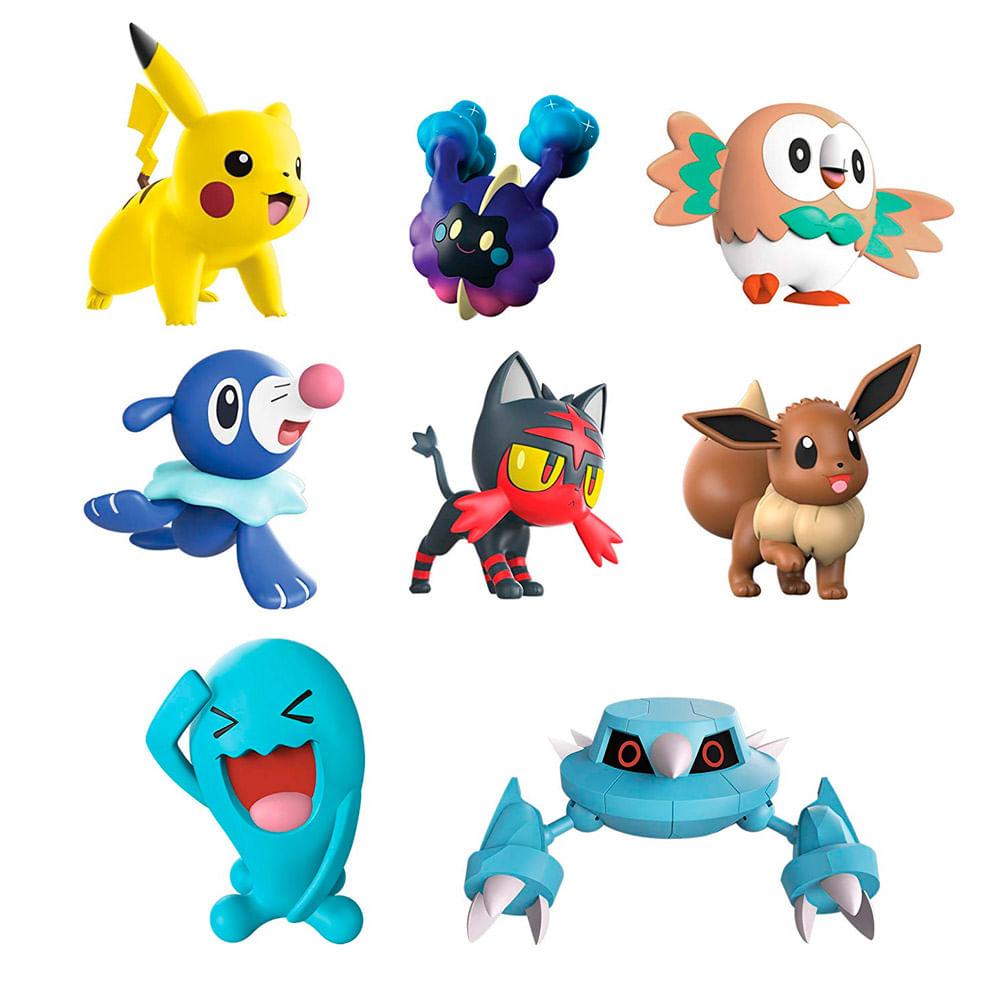 Conjunto de Figuras - Pokémon - 8 Bonecos - Battle Figure Multi Pack - DTC