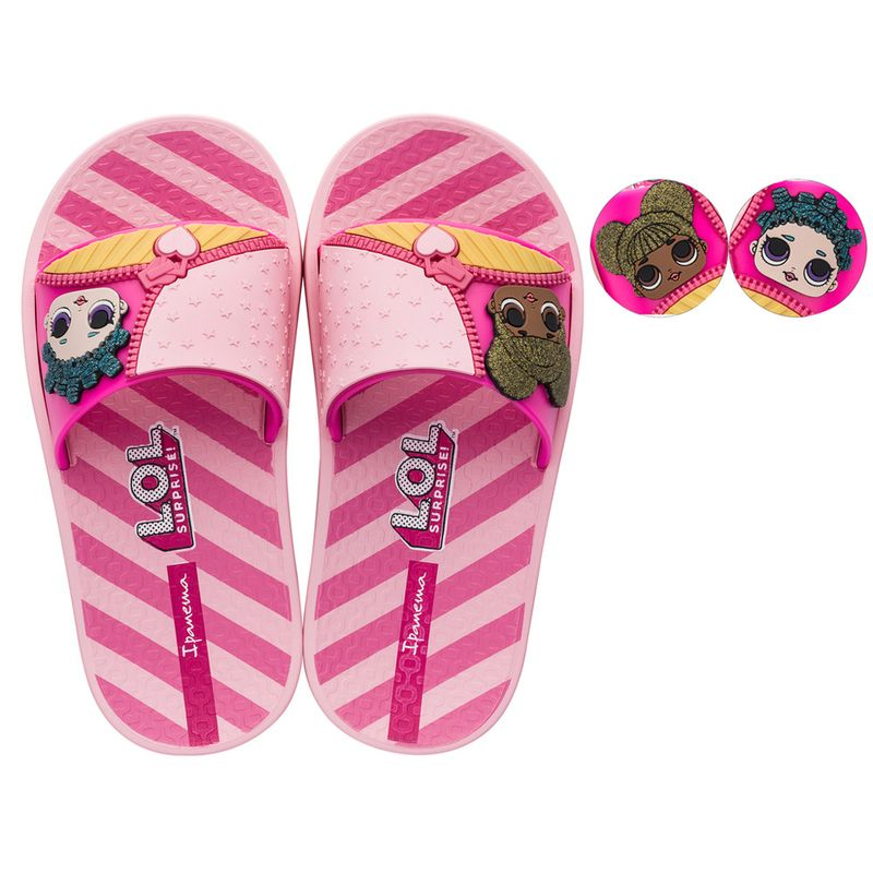 0cef46d7a0a Chinelo Infantil - Ipanema - LOL Surprise - Slide - Rosa - Grendene - Ri  Happy Brinquedos