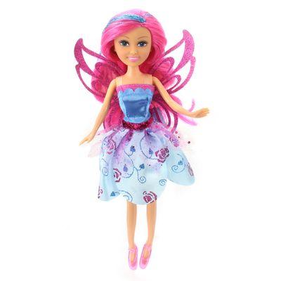 Boneca-Articulada---Funville-Sparkle-Girlz---Super-Sparkly-Fairy---Cone---Azul---DTC