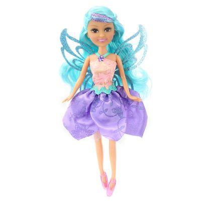 Boneca-Articulada---Funville-Sparkle-Girlz---Super-Sparkly-Fairy---Cone---Salmao---DTC