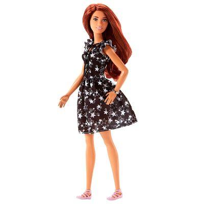 Boneca-Barbie-Fashionista---Vestido-com-Estrelas---Mattel