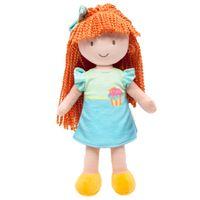 Boneca-de-Pelucia---34-Cm---Cupcake-na-Sacola---Vestido-Azul-e-Verde---Buba