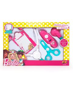 Conjunto-de-Medica-Basico-Kit-01---Barbie---Rosa-Branco-e-Azul---Fun